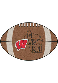 Wisconsin Badgers Southern Style 20x32 Football Interior Rug