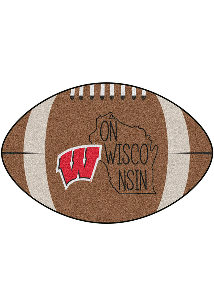 Wisconsin Badgers Southern Style 20x32 Football Interior Rug - Image 2
