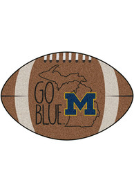 Michigan Wolverines Southern Style 20x32 Football Interior Rug
