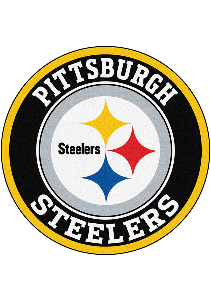 Pittsburgh Steelers 26g Roundel Interior Rug - Image 1