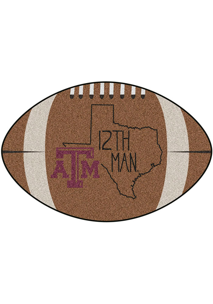 Texas A&M Aggies Southern Style 20x32 Football Interior Rug - Image 1