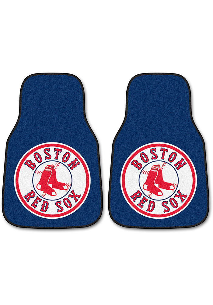 Sports Licensing Solutions Boston Red Sox 2 pc Car Mat Car Mat - Navy Blue - Image 1