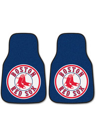 Sports Licensing Solutions Boston Red Sox 2 pc Car Mat Car Mat - Navy Blue