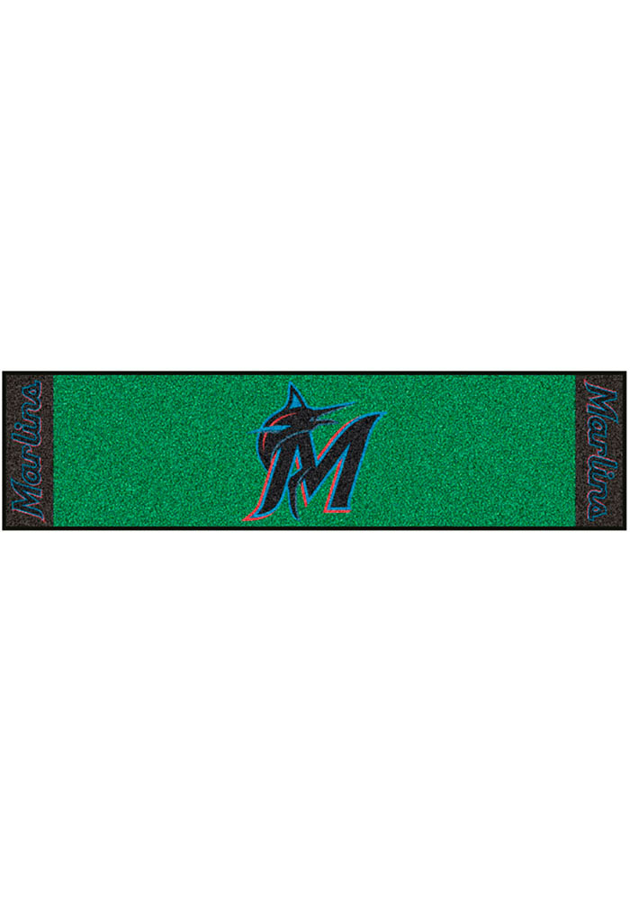 Miami Marlins 18x72 Putting Green Runner Interior Rug - Image 1