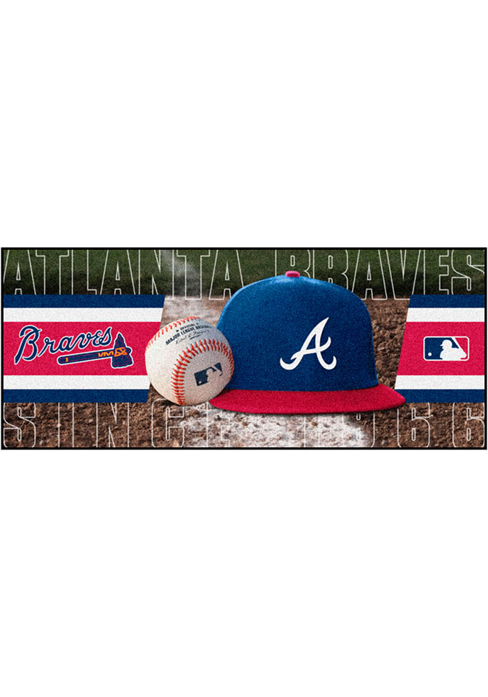 Atlanta Braves 30x72 Runner Interior Rug - Image 1