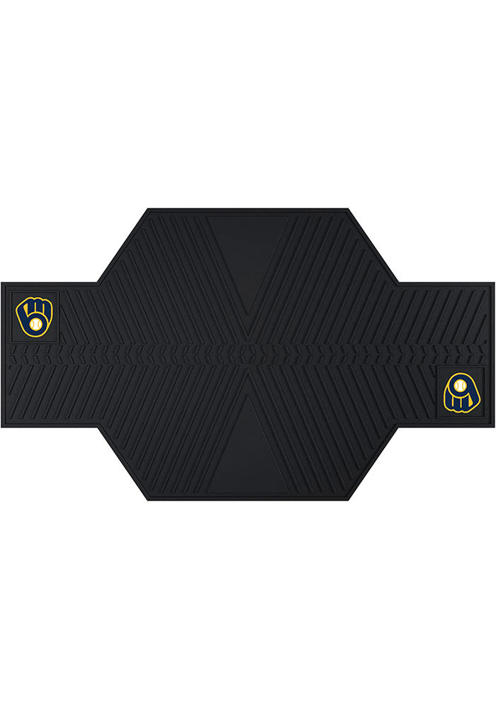 Sports Licensing Solutions Milwaukee Brewers 82.5x42 Vinyl Car Mat - Black - Image 1
