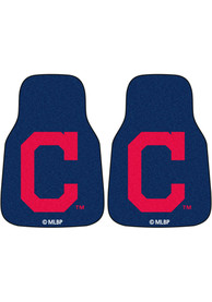 Sports Licensing Solutions Cleveland Indians 2pc Car Mat Car Mat - Navy Blue
