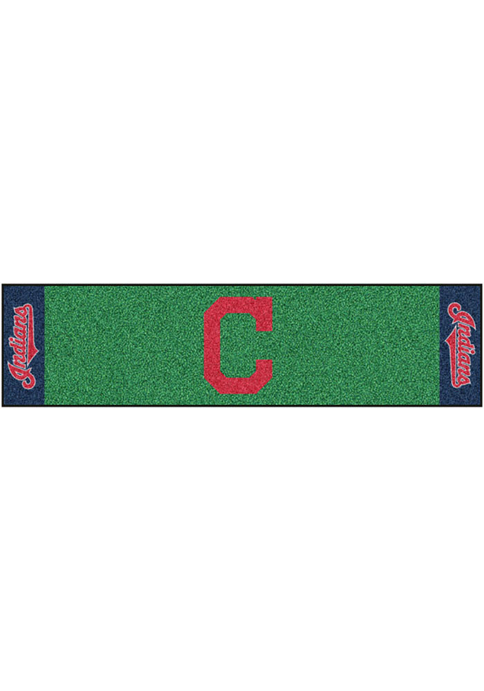 Cleveland Indians 18x72 Putting Green Runner Interior Rug - Image 1