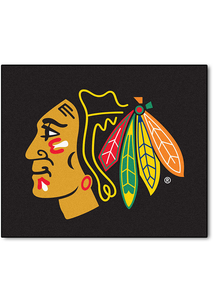 Chicago Blackhawks 60x72 Tailgater BBQ Grill Mat - Image 1