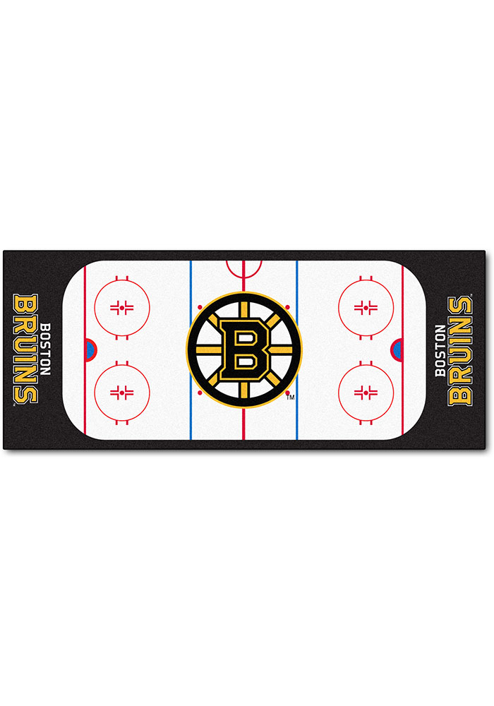 Boston Bruins 30x72 Runner Interior Rug - Image 1