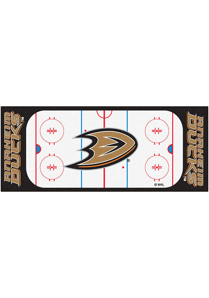 Anaheim Ducks 30x72 Runner Interior Rug - Image 1