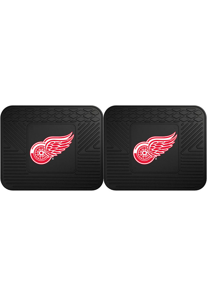 Sports Licensing Solutions Detroit Red Wings Backseat Utility mats Car Mat - Black - Image 1