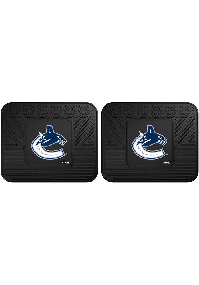 Sports Licensing Solutions Vancouver Canucks Backseat Utility mats Car Mat - Black - Image 1