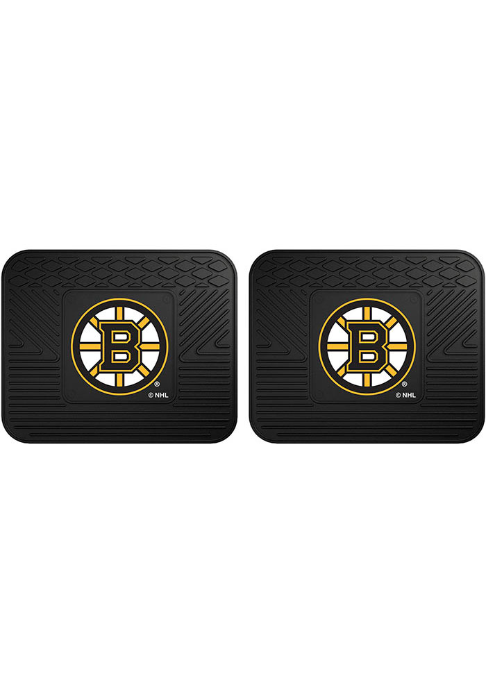 Sports Licensing Solutions Boston Bruins Backseat Utility mats Car Mat - Black - Image 1