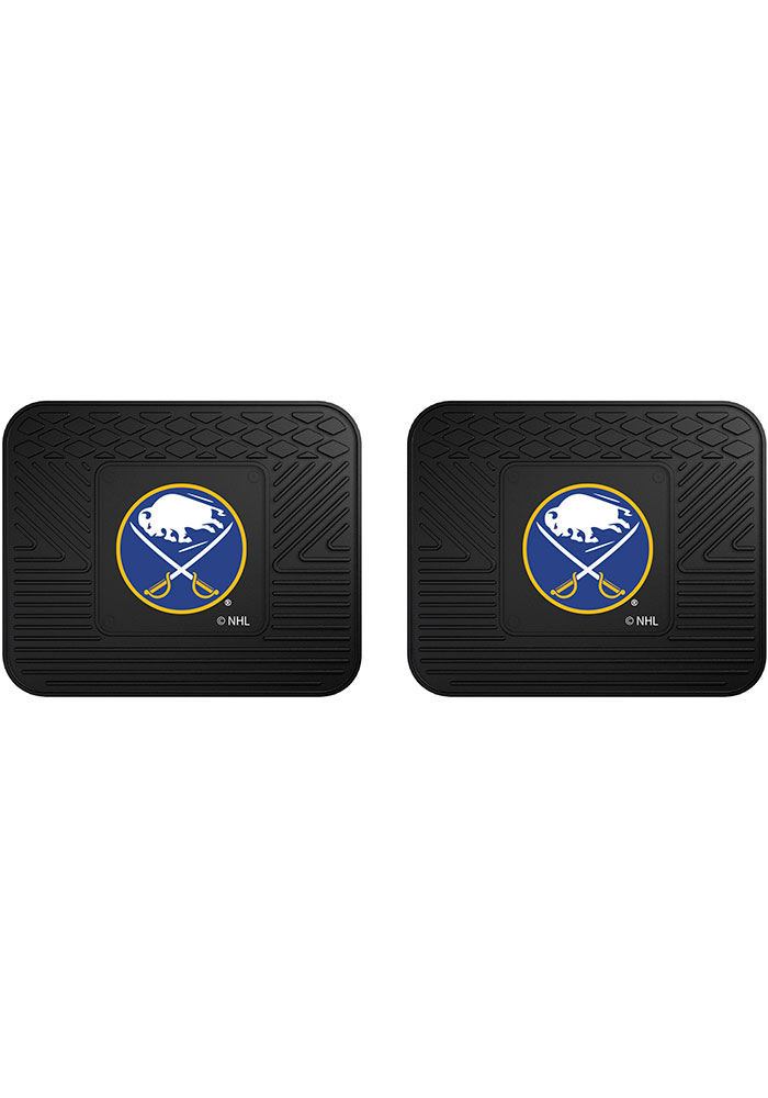 Sports Licensing Solutions Buffalo Sabres Backseat Utility mats Car Mat - Black - Image 1