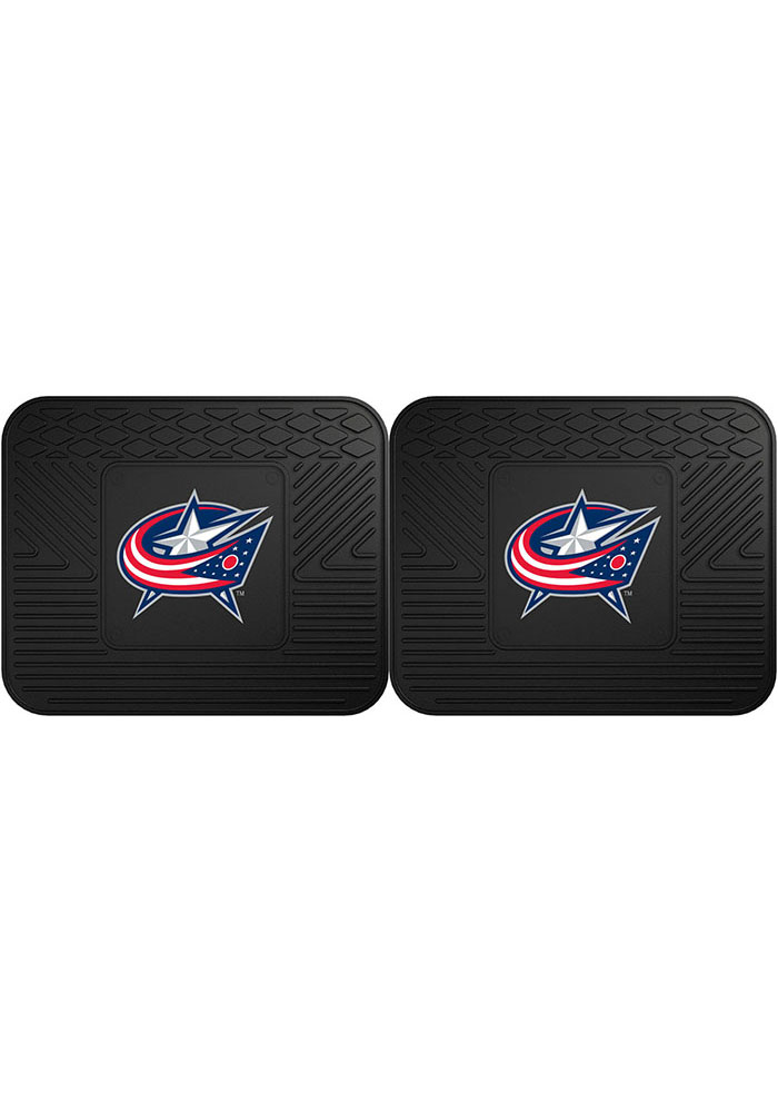 Sports Licensing Solutions Columbus Blue Jackets Backseat Utility mats Car Mat - Black - Image 1