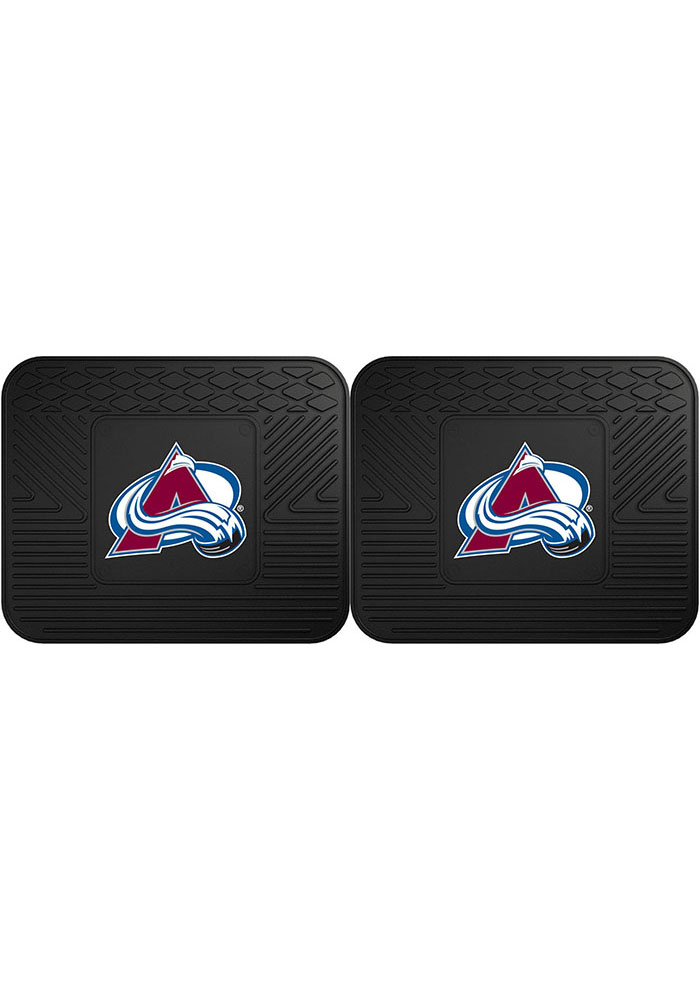Sports Licensing Solutions Colorado Avalanche Backseat Utility mats Car Mat - Black - Image 1