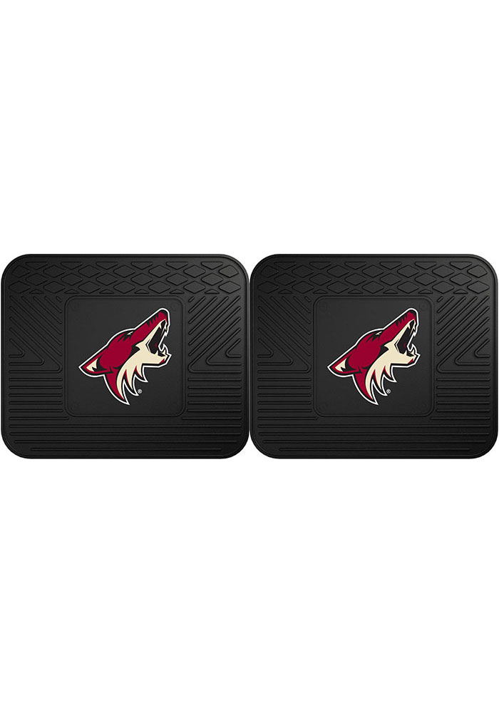 Sports Licensing Solutions Arizona Coyotes Backseat Utility mats Car Mat - Black - Image 1
