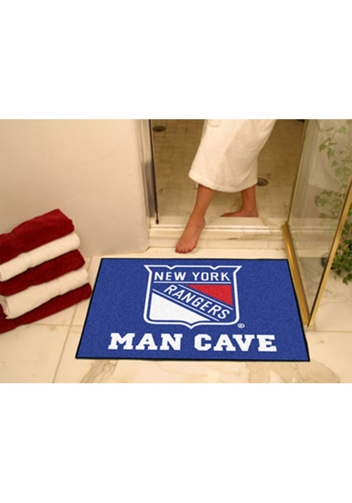 New York Rangers 34x45 All Star Interior Rug - Image 1
