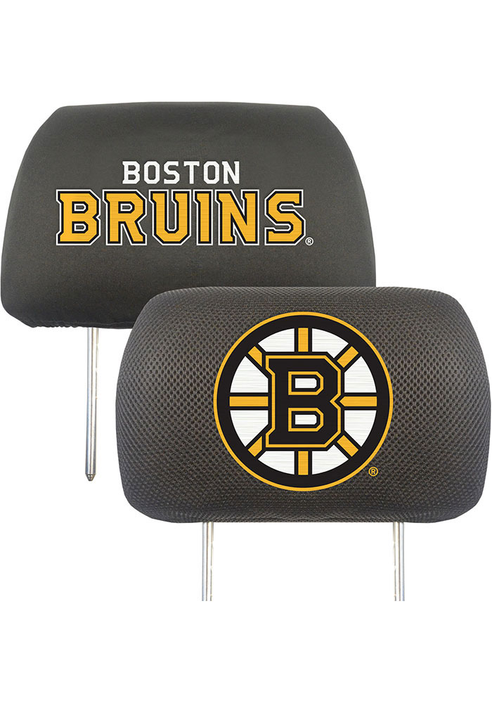 Boston Bruins 10x13 Head Rest Auto Head Rest Cover - Image 1