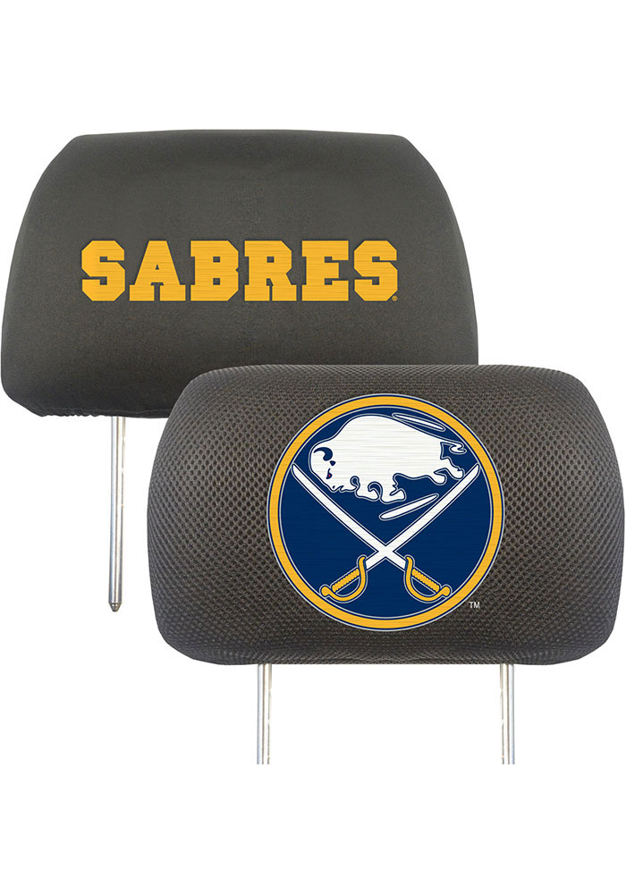 Sports Licensing Solutions Buffalo Sabres 10x13 Head Rest Auto Head Rest Cover - Black - Image 1