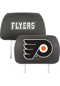 Sports Licensing Solutions Philadelphia Flyers 10x13 Head Rest Auto Head Rest Cover - Black