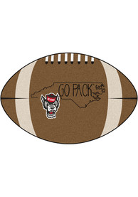 NC State Wolfpack Southern Style 20x32 Football Interior Rug