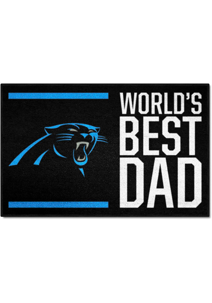 Carolina Panthers Worlds Best Dad 19x30 Starter Interior Rug - Image 1