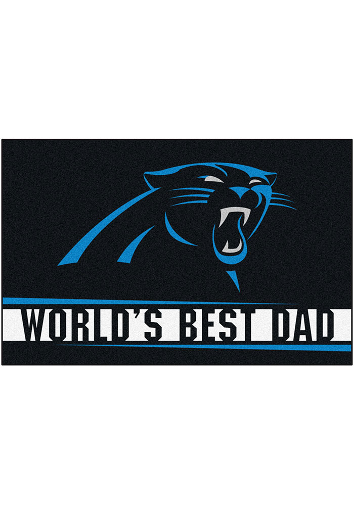 Carolina Panthers Worlds Best Dad 19x30 Starter Interior Rug - Image 2