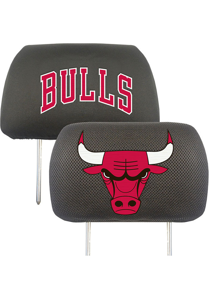 Chicago Bulls 10x13 Head Rest Auto Head Rest Cover - Image 1