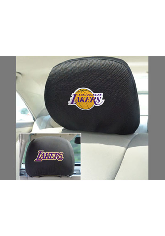 Los Angeles Lakers 10x13 Head Rest Auto Head Rest Cover - Image 1