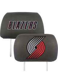 Sports Licensing Solutions Portland Trail Blazers 10x13 Head Rest Auto Head Rest Cover - Black