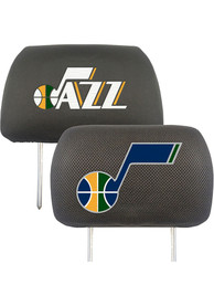 Sports Licensing Solutions Utah Jazz 10x13 Head Rest Auto Head Rest Cover - Black