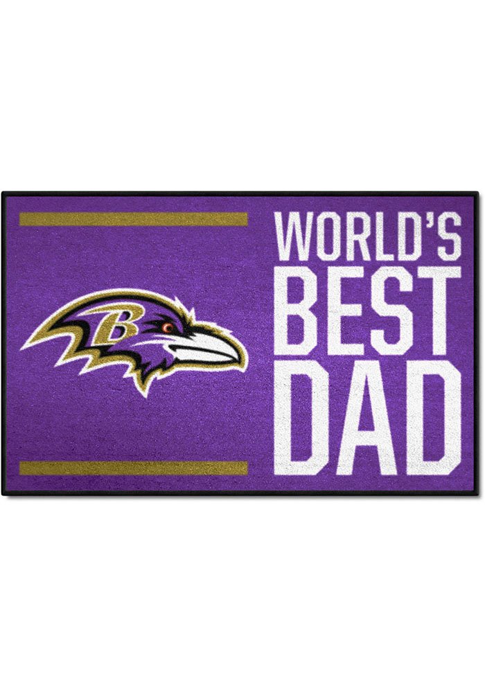 Baltimore Ravens Worlds Best Dad 19x30 Starter Interior Rug - Image 1