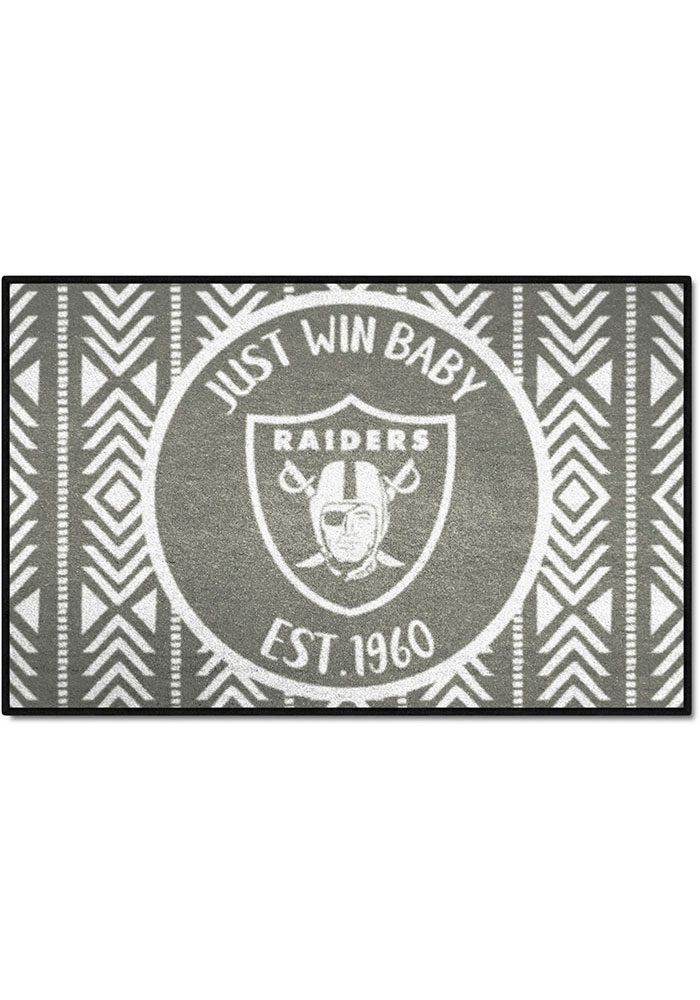 Oakland Raiders Southern Style 19x30 Starter Interior Rug - Image 1