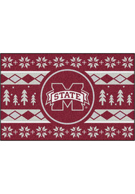 Mississippi State Bulldogs 19x30 Holiday Sweater Starter Interior Rug