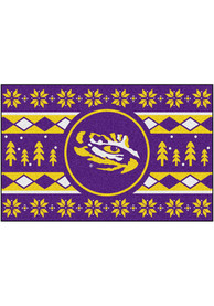 LSU Tigers 19x30 Holiday Sweater Starter Interior Rug
