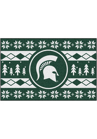 Michigan State Spartans 19x30 Holiday Sweater Starter Interior Rug