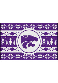 K-State Wildcats 19x30 Holiday Sweater Starter Interior Rug