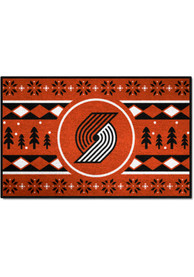 Portland Trail Blazers 19x30 Holiday Sweater Starter Interior Rug