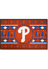 Philadelphia Phillies 19x30 Holiday Sweater Starter Interior Rug