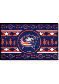 Columbus Blue Jackets 19x30 Holiday Sweater Starter Interior Rug