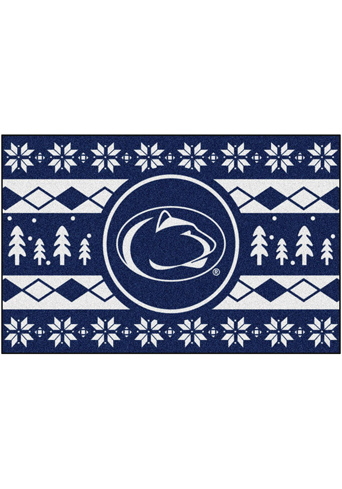 Penn State Nittany Lions 19x30 Holiday Sweater Starter Interior Rug - Image 1