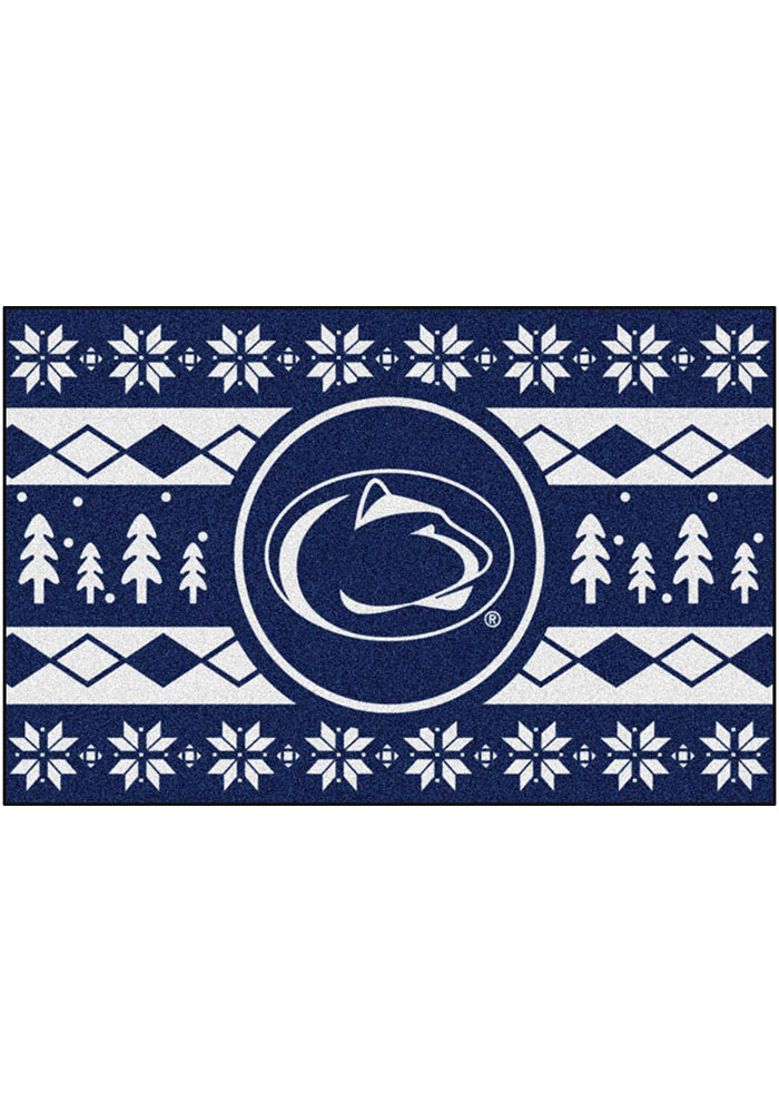 Penn State Nittany Lions 19x30 Holiday Sweater Starter Interior Rug - Image 2