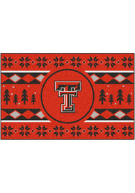 Texas Tech Red Raiders 19x30 Holiday Sweater Starter Interior Rug