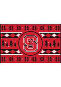 NC State Wolfpack 19x30 Holiday Sweater Starter Interior Rug