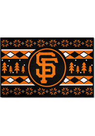 San Francisco Giants 19x30 Holiday Sweater Starter Interior Rug