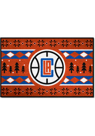 Los Angeles Clippers 19x30 Holiday Sweater Starter Interior Rug