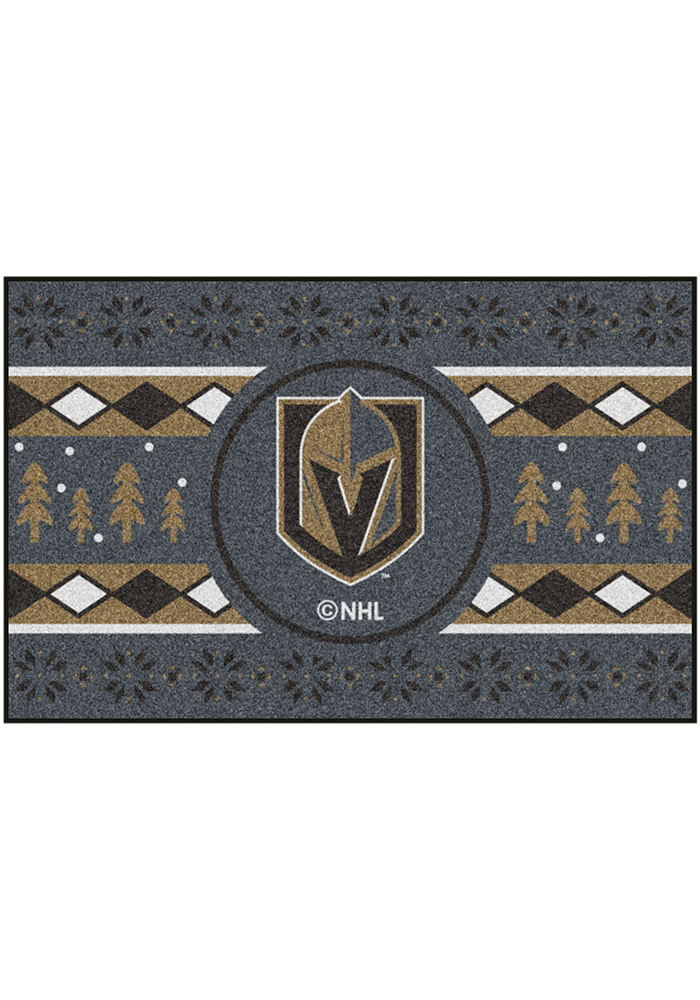 Vegas Golden Knights 19x30 Holiday Sweater Starter Interior Rug - Image 2