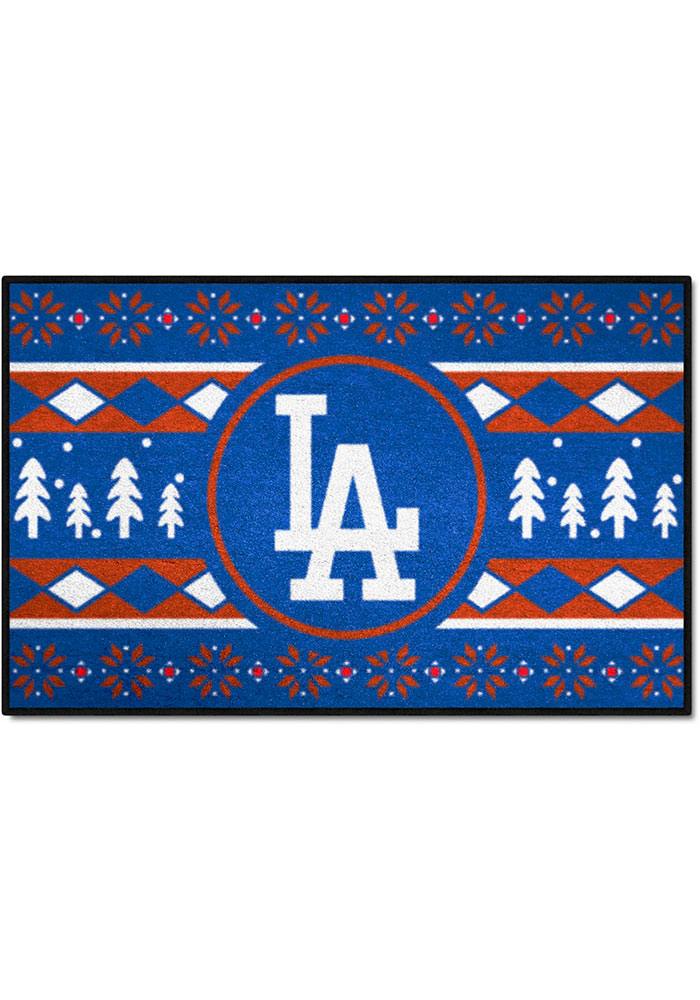 Los Angeles Dodgers 19x30 Holiday Sweater Starter Interior Rug - Image 1